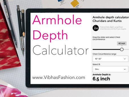 Calculate Armhole depth easily