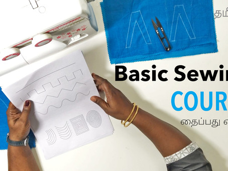 Basic Sewing lessons for beginners — Sewing 101 with sewing practice sheets