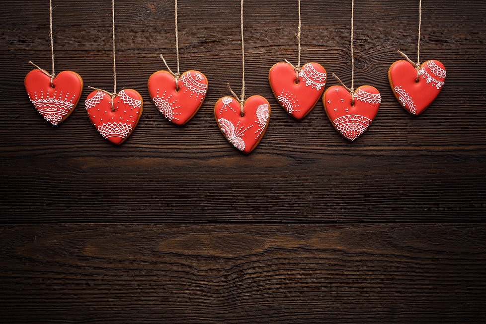 heart-shaped-cookies-hanging-from-ropes.