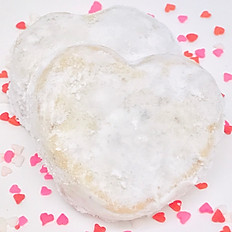 Heart Shaped Italian Wedding Cookies