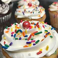 Jumbo Cupcake with Sprinkles