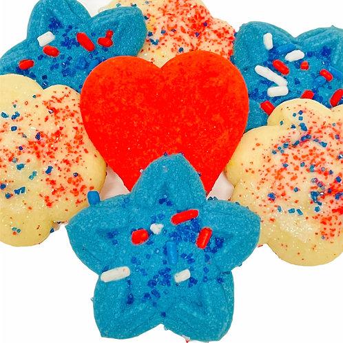 Patriotic Italian Butter Cookies