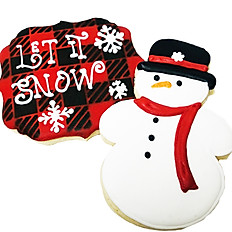 Let it Snow Decorated Cookies