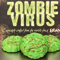 Zombie Virus Brain Cookies