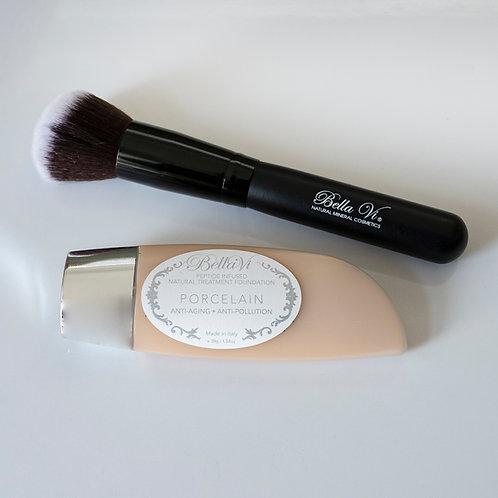 Bella Vi Kabuki Flat Top Brush