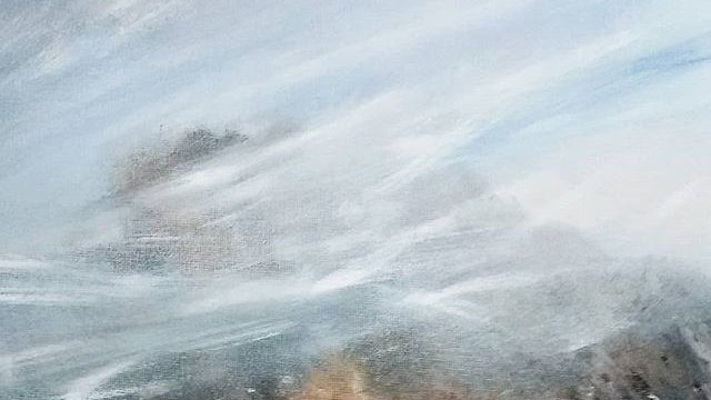 Mist swirling around The Roaches