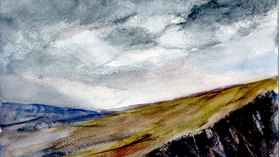 The Ridge watercolour