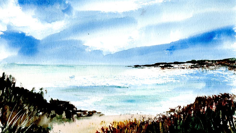 The coast watercolour
