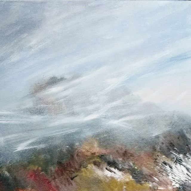 Misty tops Oil Painting Carole Knight.JP