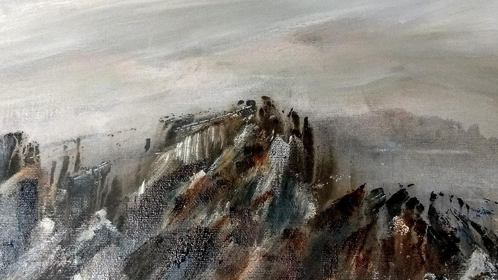 Mist descends on rugged Ramshaw rocks