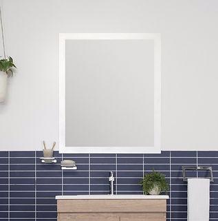 Glass Frame Flush Mirror
