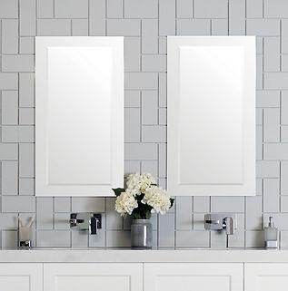 Glass Frame Overlay Mirror