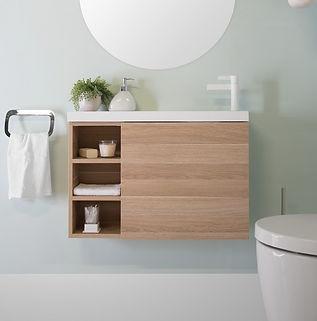 Petite Shelf vanity