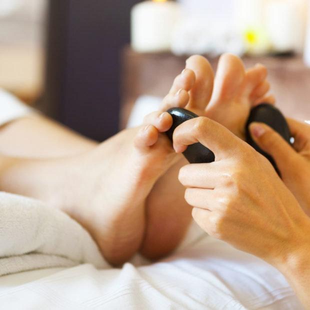 Hot Stone Foot Reflexology