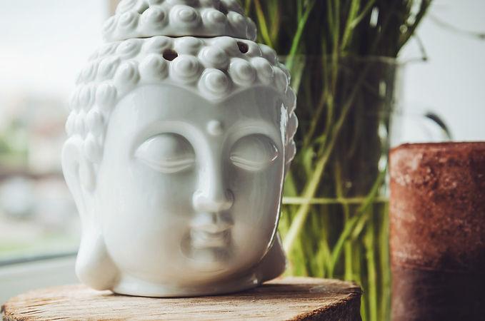 Zen spiritual ritual meditating white fa