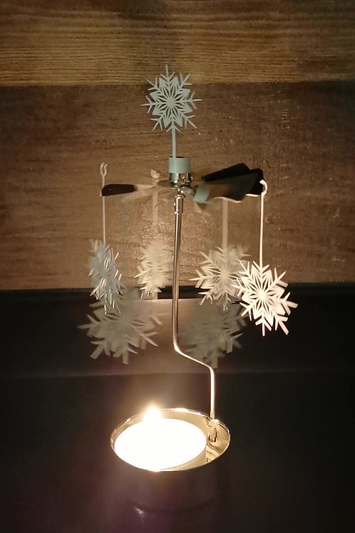 Snowflake - Rotary Candle Holder