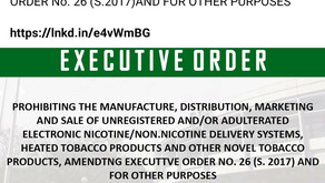 Executive order 106: Prohibition of illegal unregistered Vapes and E-cigarettes in the Philippines