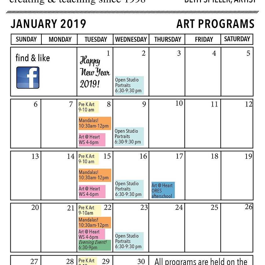 February Schedule At a Glance