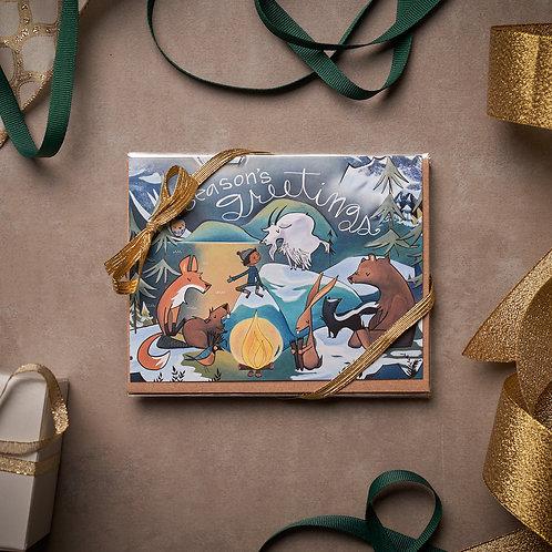 Holiday Cards- 5 pack - Bonfire Gang - Season's Greetings