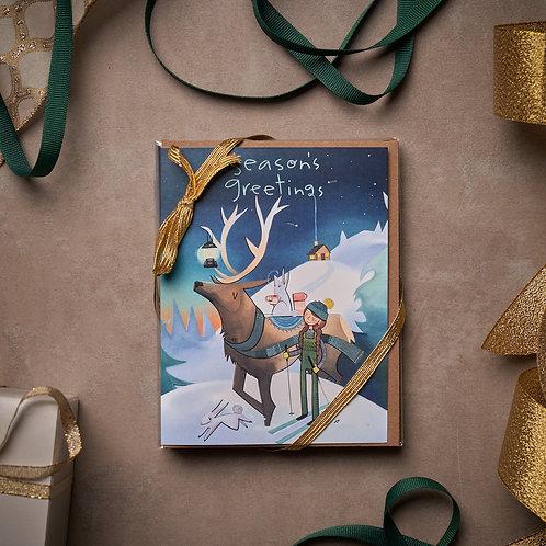 Holiday Cards- 5 pack - Elk Lantern - Season's Greetings