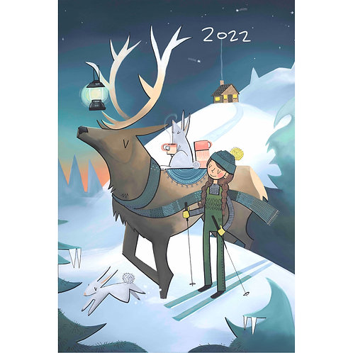 "2022 Wall Art Calendar 18 x 12"" - Elk Lantern Cover"