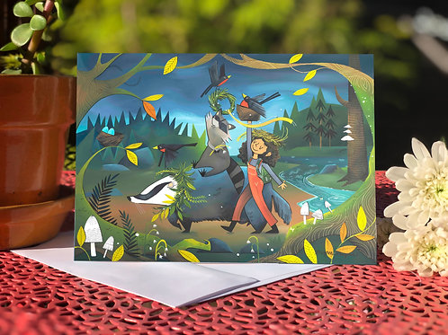 #73 Badger Robbins- Blank Card