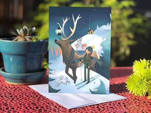 #71  Elk Lantern- Blank Card