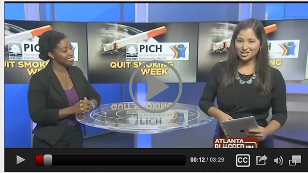 NAATPN on CBS46 Atlanta for Great American Smokeout 2015