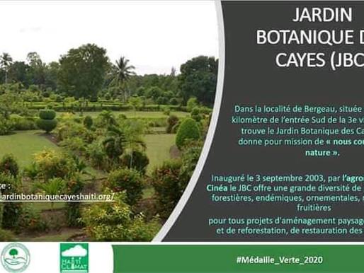 Le prix de la médaille verte pour le Jardin Botanique des Cayes