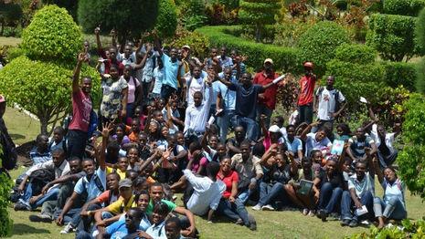 Visiteurs du Jardin Botanique des Cayes