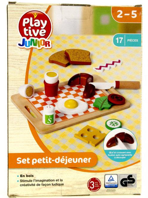 Детский деревянный пищевой набор. Play tive