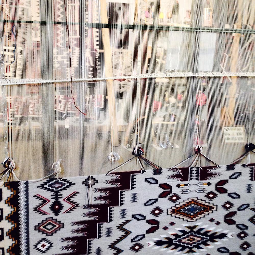 Tejido de tapiz Navajo