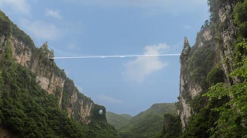 CHINA: El puente de cristal más alto del mundo