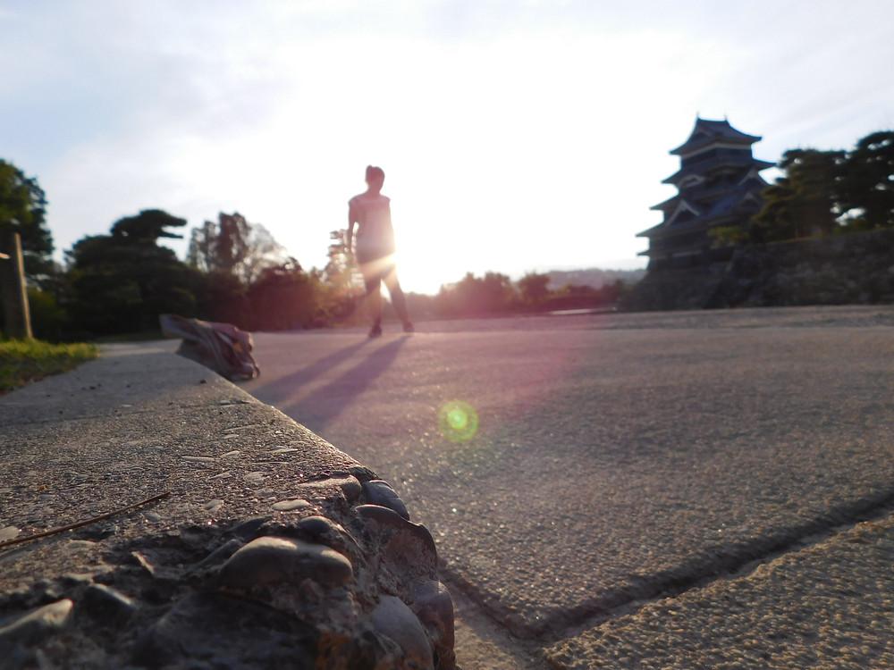 Atardecer en el castillo de Matsumoto