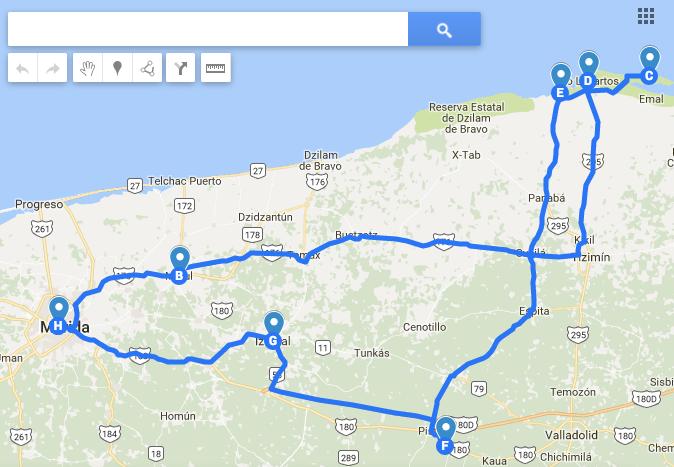 Ruta del road trip