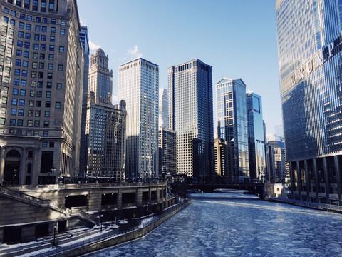 ESTADOS UNIDOS: Postales de Chicago congelado
