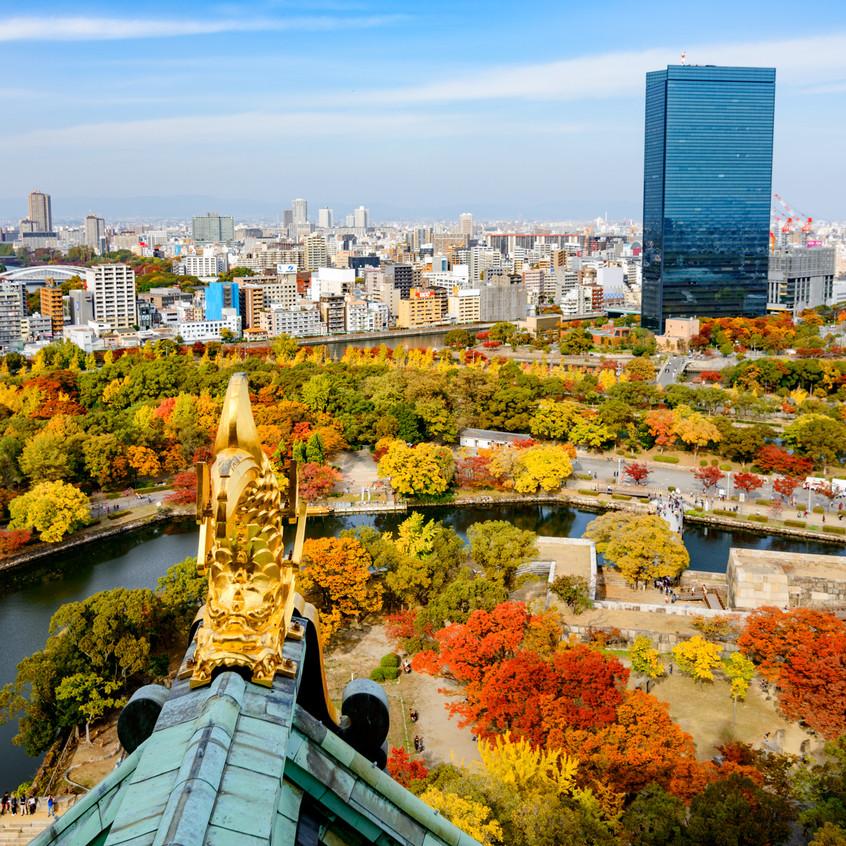 Vista desde el castillo de Osaka