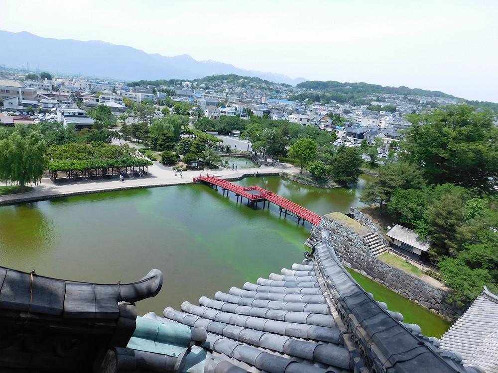 Vista de Matsumoto desde el castillo