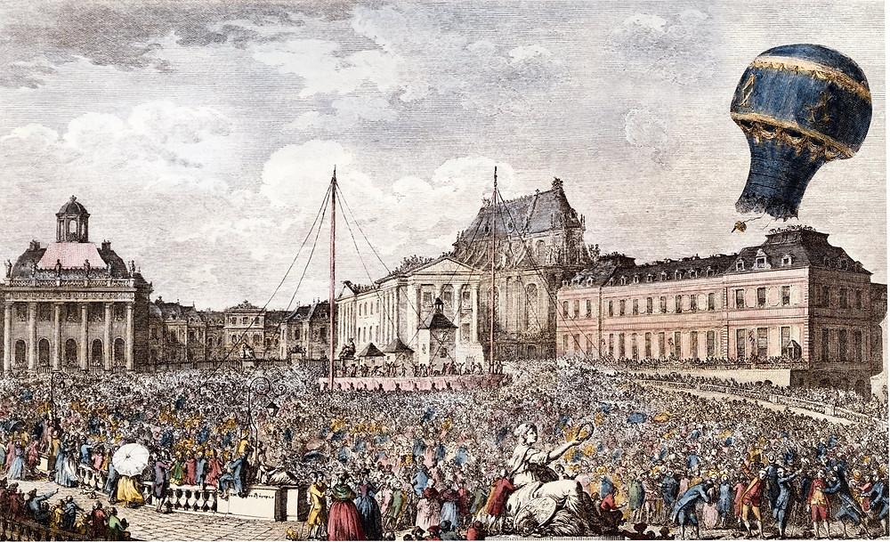 Vuelo de Jacques Charles y Nicolas-Louis Robert sobre París
