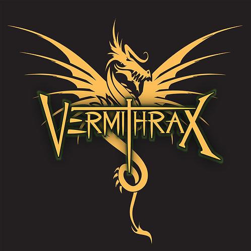 Vermithrax T-Shirt Original Dragon Logo Black & Gold