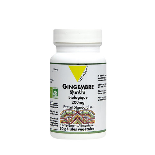 Gingembre bio 200 mg extrait standardisé