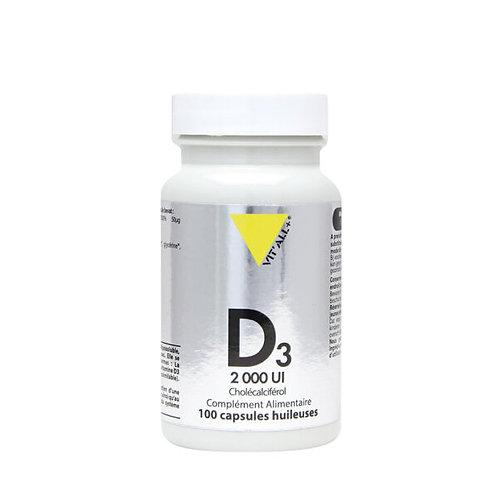 Vitamine D3 2000UI Cholécalciférol 50mcg