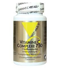 Vitamine C 750 mg action prolongée + bioflavonoïdes