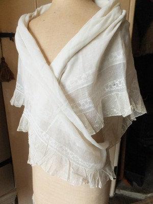 So rare, c1790's Jamdanee [Jamdani] fichu - kerchief
