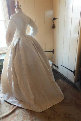 154 years old & still immaculate Bridal Gown & Hair Net