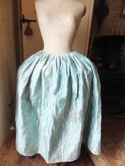 Circa 1760 - 70's quilted petticoat
