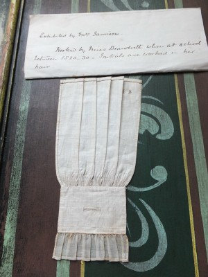 Stitch perfection! Late Regency sleeve sampler with hair initials