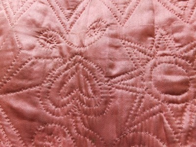 Pink Love Hearts! Mid 18th Century deep quilted petticoat