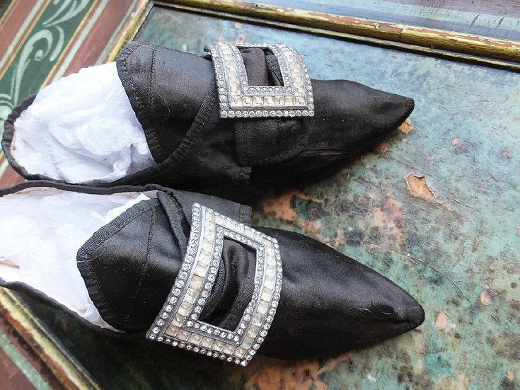 C1770-80's shoes with latchets & Italian heels