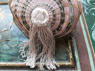 Condition photographs of the straw work Regency hat, c1800-1810